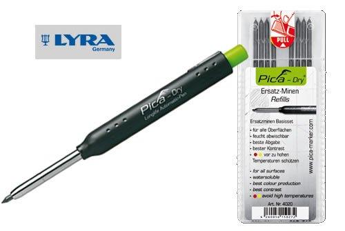 LYRA Tiefloch-Marker graphit Set 2B m. 10tlg. Minen-Set