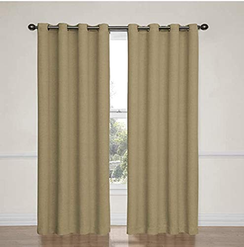 """Eclipse 52"""" x 84"""" Absolute Zero Curtains, 2-Pack (Kimball Natural)"""
