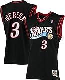Allen Iverson Philadelphia 76ers NBA Mitchell & Ness Boys Youth 8-20 Black Hardwood Classics Swingman Jersey (Youth Small 8)