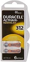 Duracell Easytab/Activair tipo 312per apparecchi acustici Zinc Air P312PR41ZL3, confezione da 60