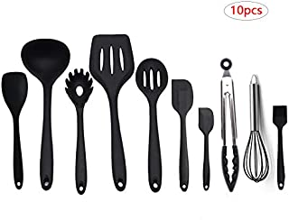 Kitchen Cookware Utensils Sets 11Pcs Silicone Utensil Sets Cooking Best Assistant with Heat-Resistant Easy to Clean-Premium Silicone Kitchen Utensils Tools WUYASTA