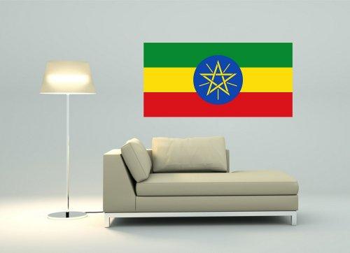 Kiwistar Wandtattoo Sticker Fahne Flagge Aufkleber Äthiopien 80 x 40cm