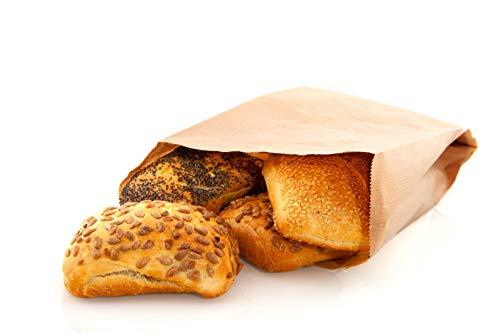 good4food 1000 Stück Papierfaltenbeutel, Bäckerbeutel, Papierbeutel,Bio Lunch-Taschen in BRAUN (16+6x36cm)