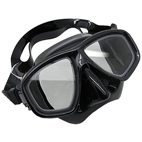 Prime Scuba-Set maschera e boccaglio da immersione, colore: nero, FARSIGHTED prescrizione RX ottico con lenti correttive