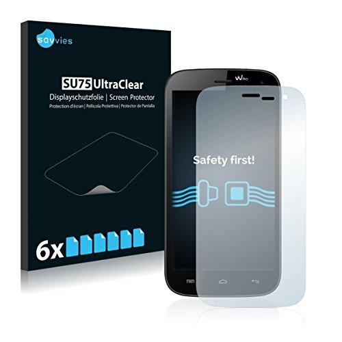6x Savvies SU75 UltraClear Bildschirmschutz Schutzfolie für Wiko Darknight (ultraklar, mühelosanzubringen)