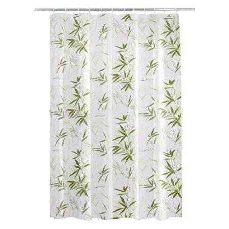 BBFhome ourlet lesté Leaf Design polyester imperméable rideau de douche 120 X 180 CM W EASY CLEAN - à l'aide d'un chiffon humide
