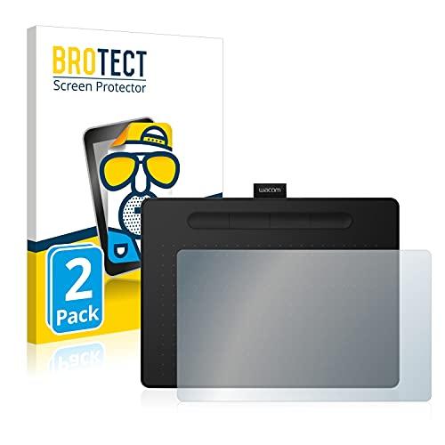 BROTECT 2X Entspiegelungs-Schutzfolie kompatibel mit Wacom Intuos PT S Displayschutz-Folie Matt, Anti-Reflex, Anti-Fingerprint