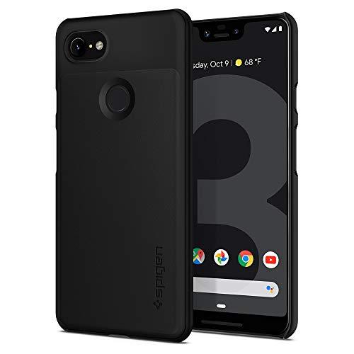 Spigen Google Pixel 3XL ケース 対応 超極薄 レンズ保護 超薄型 超軽量 指紋防止 マット仕上げ シン・フィット F20CS25028 (ブラック)