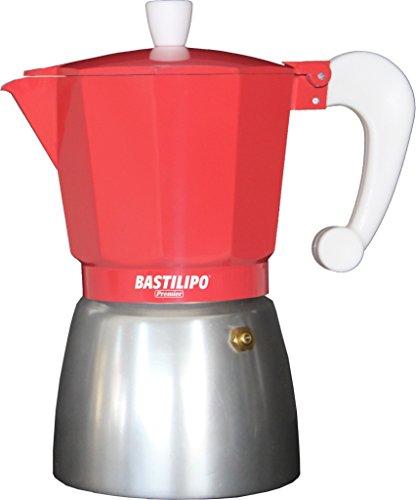Bastilipo Colori-3 Cafetera, Aluminio, Coral