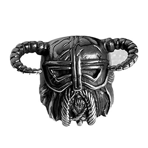 FLQWLL Anillo De Casco De Guerrero Vikingo, Anillo Indio, Anillo De Acero Inoxidable Pesado Retro, Joyería para Montar,8