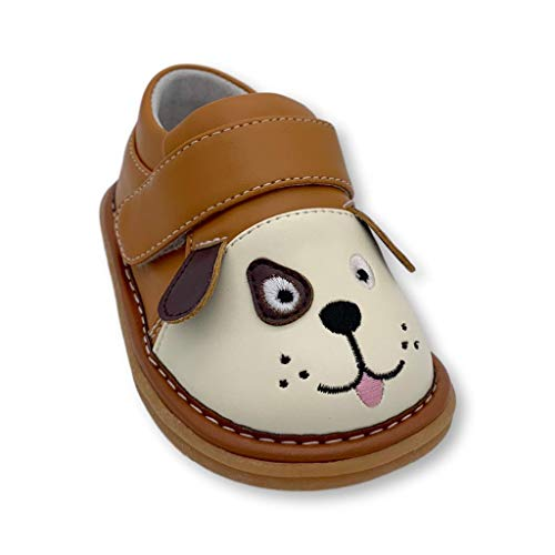Wee Squeak Toddler Squeaky Shoes Fetch The Dog Brown Size 6
