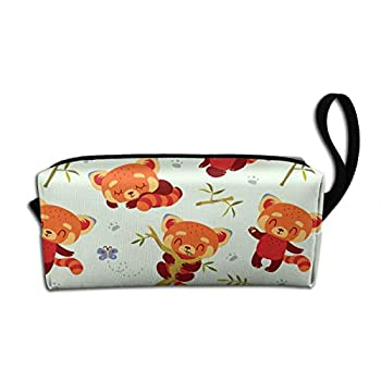 Cartoon Kawaii Style Red Panda Makeup Bag Adorable Travel Cosmetic Pouch Toiletry Organizer Case Gift for Women
