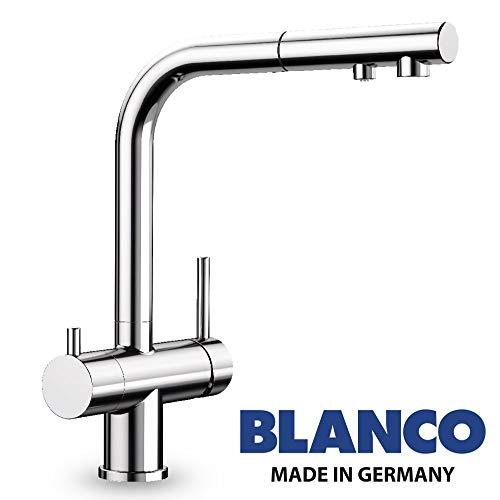 Designer 3 Wege Armatur BLANCO Chrom mit ausziehbarer Brause ! Der Wasserhahn mit 3 Anschlüssen und einer