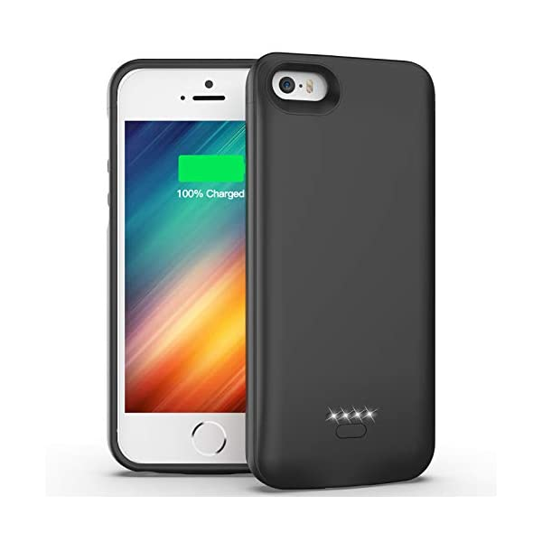 Iphone 5 5s Se Battery Case 4000mah Protective Charging Case For Iphone 5 5s Se 2016 Edition 40 Inch