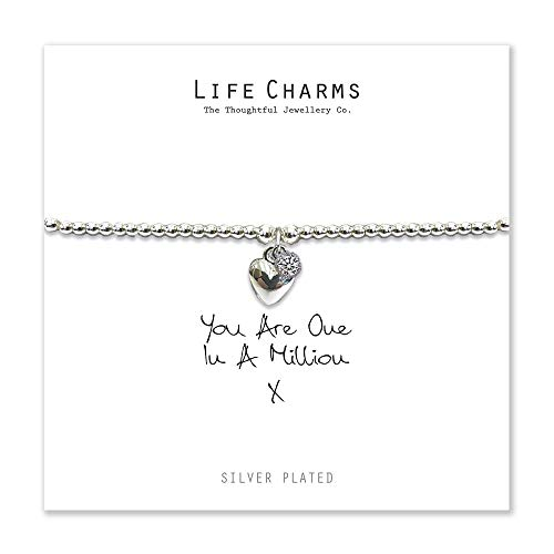 Life Charms You Are One In A Million Heart Bracelet