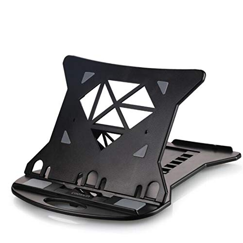 Soporte Portatil Ergon6mico Monitor Plegable Piernas Ventilador Vertical para Computadora PortáTil VentilacióN TéRmica Compatible Computadora Apto17 Pulgadas Ajuste de Altura de 7 velocidades,Black