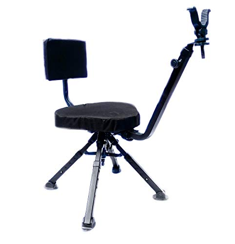 BenchMaster Ground Blind and Shooting Chair | Ambidextrous All Steel Four Leg Chair for Hunting | Hunting Chair and Ground Blind with Rubber Stock | BMGBSC2