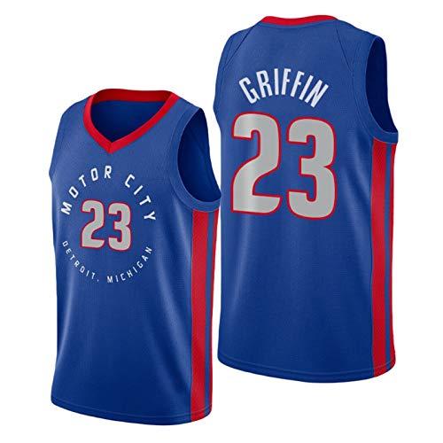 VBSD Camiseta de baloncesto Pistons # 23 Griffin, chaleco de entrenamiento juvenil para hombre, malla sin mangas, transpirable, de secado rápido, camiseta de baloncesto para fans S-Xxl azul-XXL