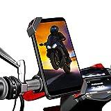 Soporte movil Moto Bicicleta sujecion Aluminio al Manillar Soporte móvil Moto Bicicleta Compatible con telefonos moviles de hasta 7.2' Soporte de movil para Moto