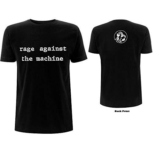 Rage Against The Machine T-Shirt Molotov da Uomo in Nero