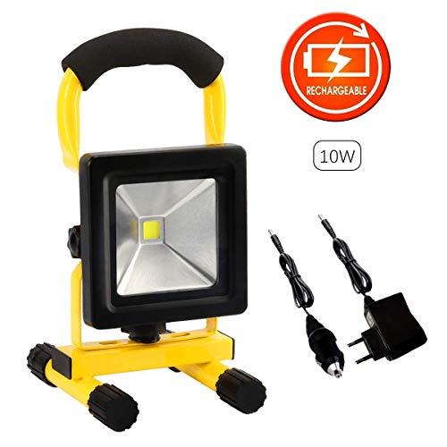 10W LED Wiederaufladbare Arbeitsscheinwerfer Tragbare Flutlicht IP65 Wasserdicht Arbeitsleuchte Scheinwerfer Outdoor lampe für Garage Home Camping Werkstatt Reise Fischen