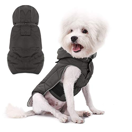 voopet Dog Jacket, Warm Winter Coat for Dogs - Soft Fleece Lining Costume, Reflective Windproof Snowproof Winter Padded Vest Clothes for Small and Medium Dogs