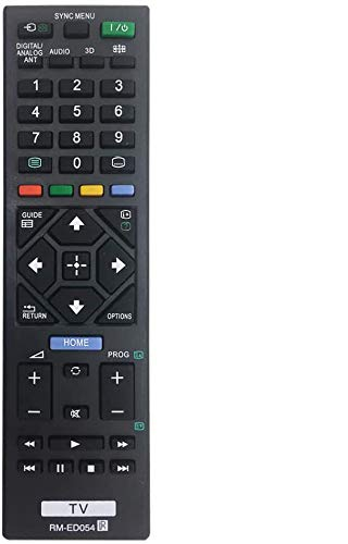 MYHGRC Reemplazo Mando a Distancia para Sony RM-ED054 para Sony bravia TV-No Requiere configuración Mando a Distancia para Sony LCD/LED Smart TV