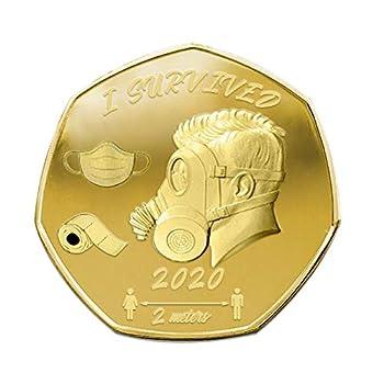 Commemorative Coin,2020 Survivors Commemorative Coin for Survived,Gold & Silver Silver Coin Survived Souvenir  Gold1-1PC