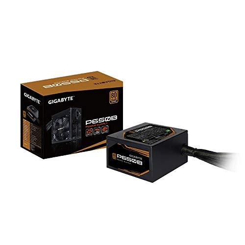 Gigabyte Technology P650B – Fuente de alimentación (650W, 80 Plus Bronze, Active PFC, EU), negro