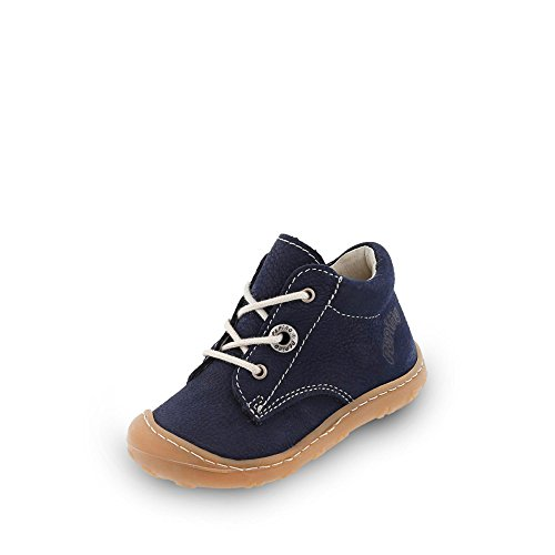 RICOSTA Pepino Unisex - Kinder Stiefel Cory, WMS: Mittel, leger Boots schnürstiefel Leder Kind-er Kids junior Kleinkind-er,See,18 EU / 2 UK