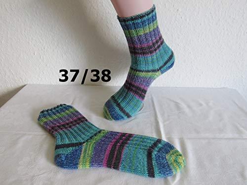 Handgestrickte Strümpfe Gr. 37/38, Socken gestrickt