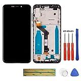 swark Écran LCD compatible avec Motorola Moto One P30 Play XT1941 XT1941-1 XT1941-3 XT1941-4 Noir +...