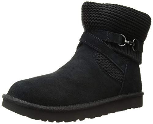 UGG Damen W Purl Strap Boot Pferdeschuh, schwarz, 35 EU