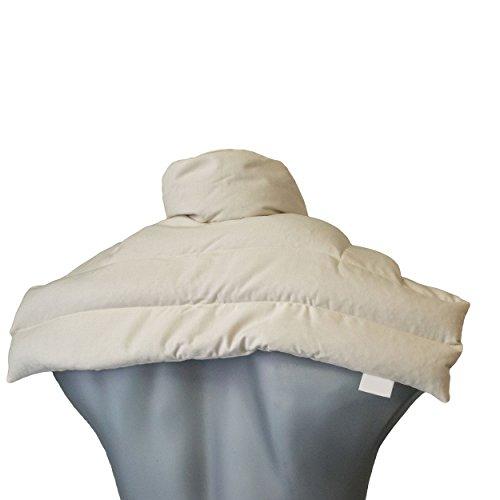 Bio-Körnerkissen Schulter & Nackenkissen mit Kragen | Bio-Stoff natur | Gute Wärme für den Nacken | Eine Alternative zum Nackenhörnchen