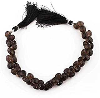 Jewel Beads Natural Beautiful jewellery 1 Strand Smoky Quartz Faceted Briolettes - Onion Beads 8mmx7mm 8.5 Inches SB1428Code:- JBB-12445