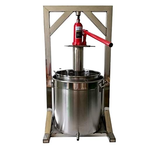 ZGQA-GQA 36L Capaciteit vruchtensap Koudpers Juicing Machine Roestvrij staal met 2T Jack Handmatige Druif Pulp Juicer…