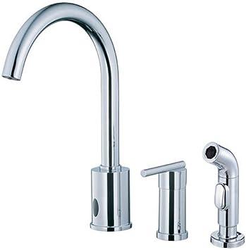Danze D421058 Parma Single Handle Dual Kitchen Faucet With Side Sprayer Chrome Touch On Kitchen Sink Faucets Amazon Com