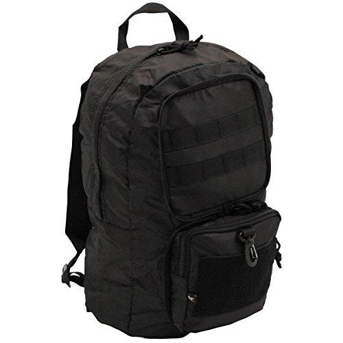 Fox Outdoor Faltbarer Rucksack 30 l Faltrucksack Daypack Businesstasche Schulrucksack (Schwarz)
