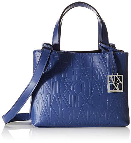 ARMANI EXCHANGE Liz – Small Open Shopping Tote, Blu (Blu (Denim – Denim).), 18x13x26 cm (B x H x T)
