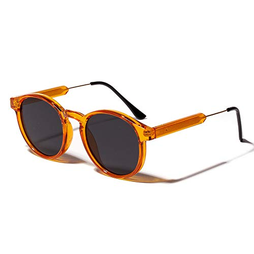 BAJSKD Gafas de Sol para Mujer Gafas de Sol Redondas Transparentes Anteojos Circulares para Hombre
