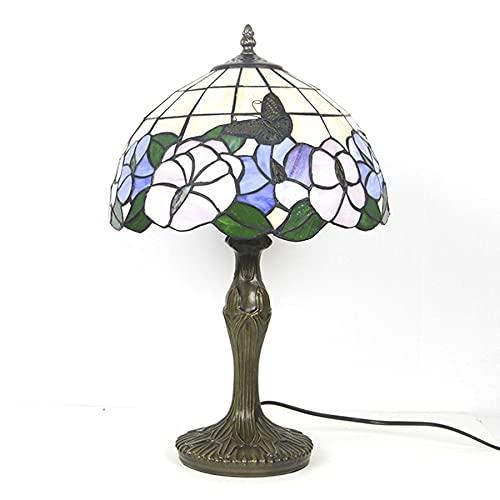 AOSHEN Lámpara De Mesa Estilo Tiffany Próspera Serie De Flores Lámparas De Escritorio Luz De Noche De La Vendimia para La Sala De Estar Dormitorio,F