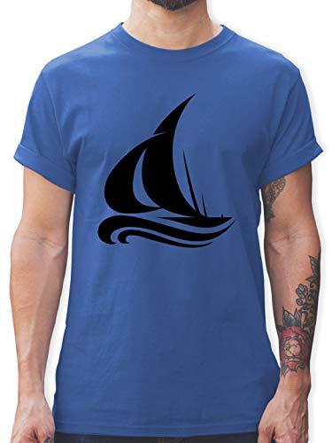 Schiffe - Segelboot Wellen - 3XL - Royalblau - Tshirt Schiff Herren - L190 - Tshirt Herren und Männer T-Shirts