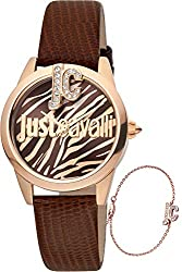 Just Trama Watch JC1L099L0035 with Leather Strap Quartz Analogue