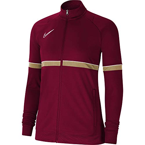 NIKE Chaqueta para mujer Academy 21 Track Jacket, Mujer, CV2677-677, rojo/blanco/dorado/blanco, medium