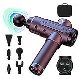 Pistola per massaggio dei tessuti profondi dell'atleta, massaggiatore portatile portatile, alleviare il dolore muscolare, massaggiatore per il corpo, touch screen, testa a 6 velocità 8