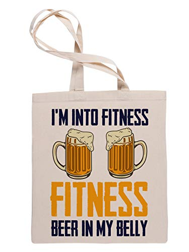 Im Into Fitness Beer In My Belly Bolsa Fe Compras Reutilizable Reusable Tote Shopping Bag