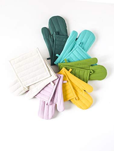 Today–Set Guanto + presina Cotone–Set Guanto + presina Cotone 32x 20cm, Cotone, Bleu Marine, 32x20x2 cm