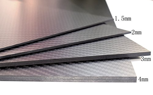 cncarbonfiber 5mmx300x400mm 100% Carbon Fiber Sheet Laminate Plate Panel 3K Twill Matte Finish