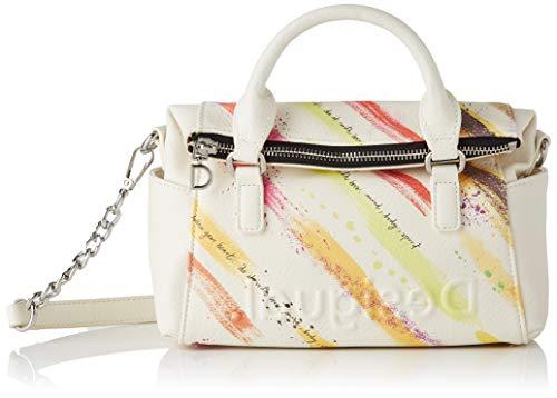 Desigual PU Hand Bag, Borsa a Mano. Donna, Giallo, U