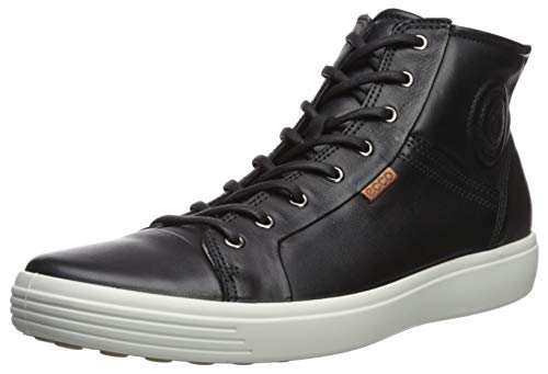 ECCO Men's Soft 7 Boot Black Sneaker 46 (US Men's 12-12.5) M